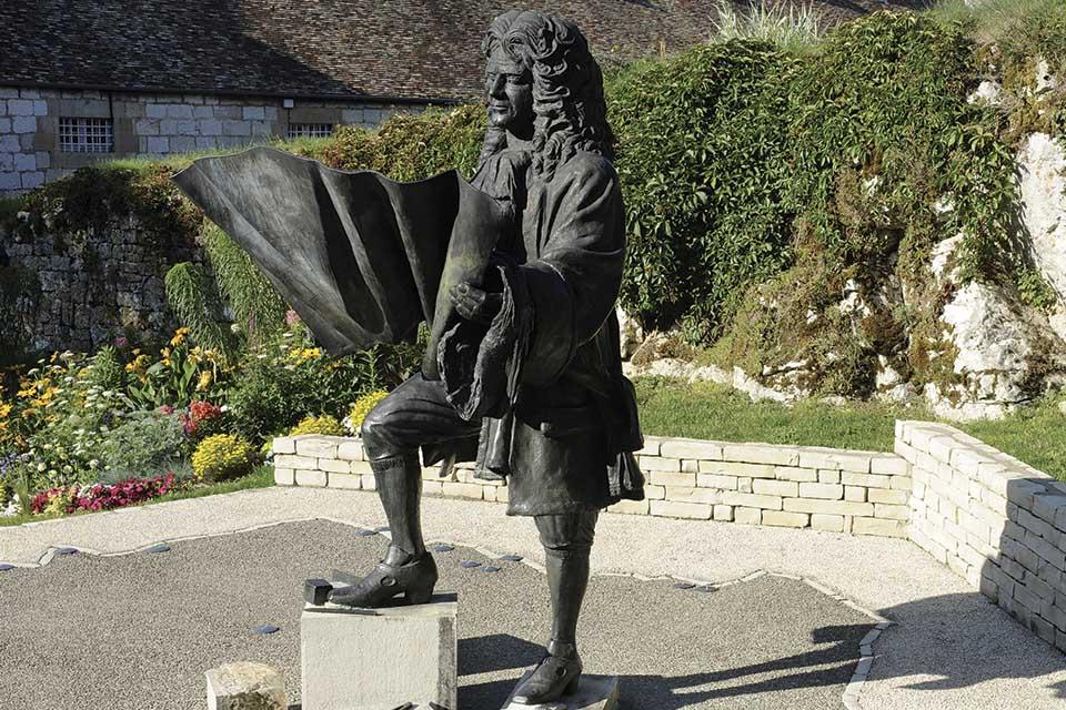 La statue de Vauban à Besançon
