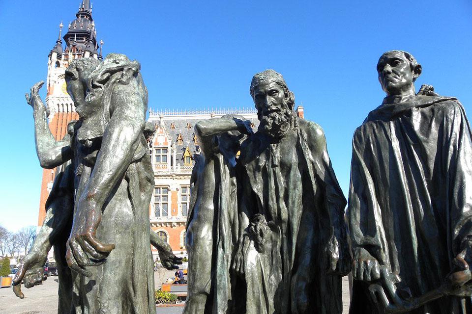 Les Bourgeois de Calais, par Rodin