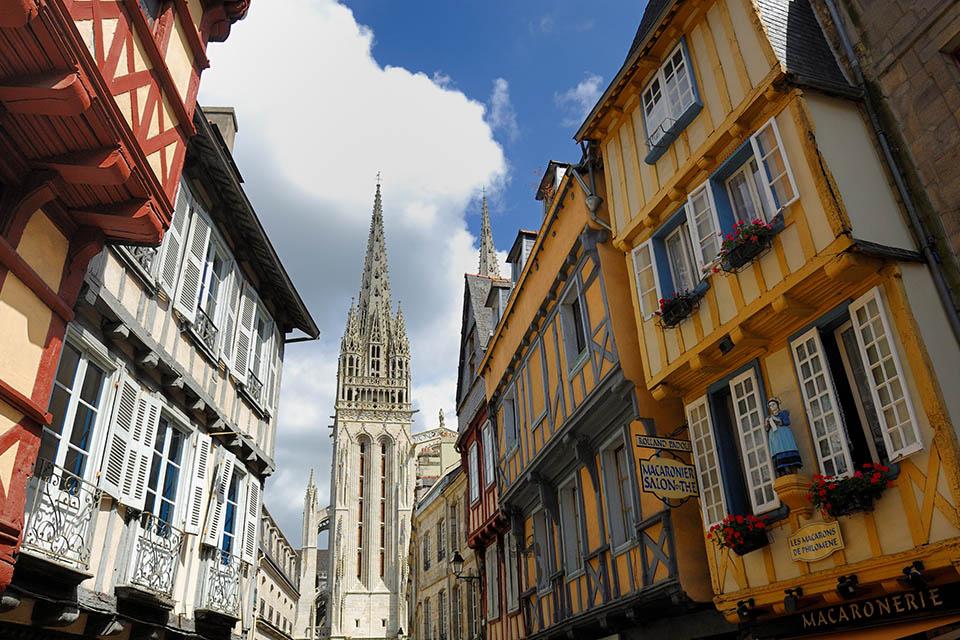 Quimper et sa cathédrale Saint-Corentin