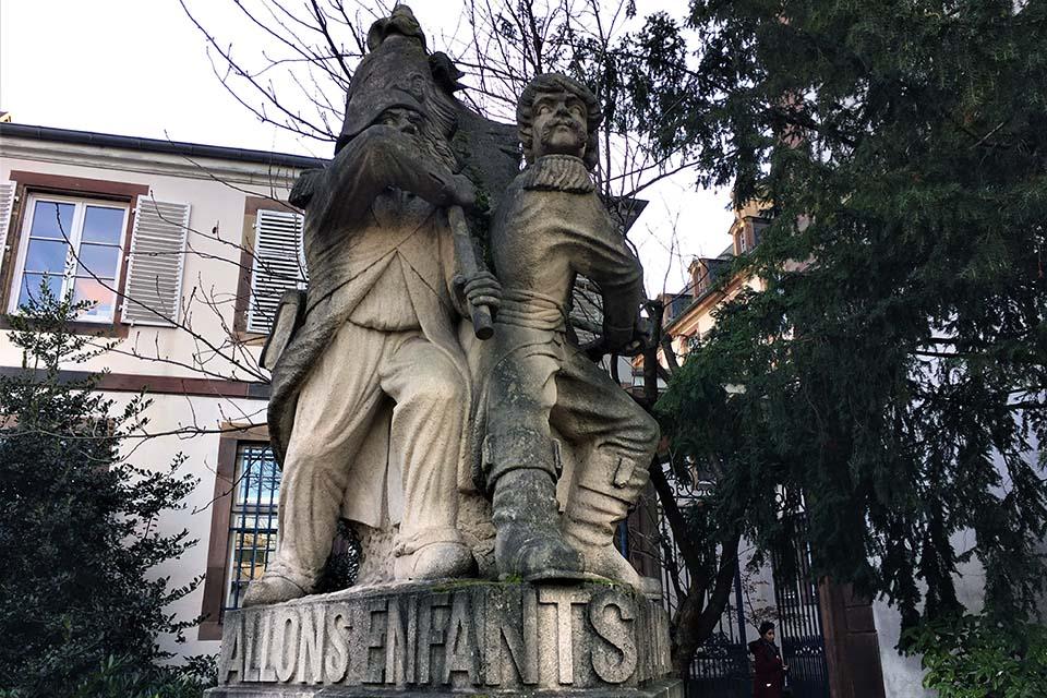 Le monument de la Marseillaise, à Strasbourg
