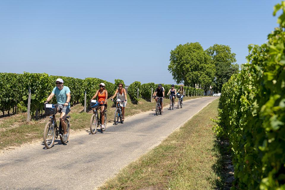 À vélo à Saint-Émilion