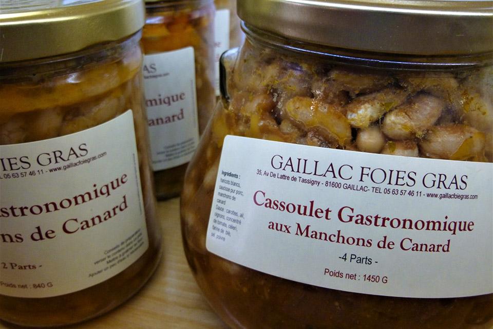 Cassoulet gastronomique aux manchons de canard
