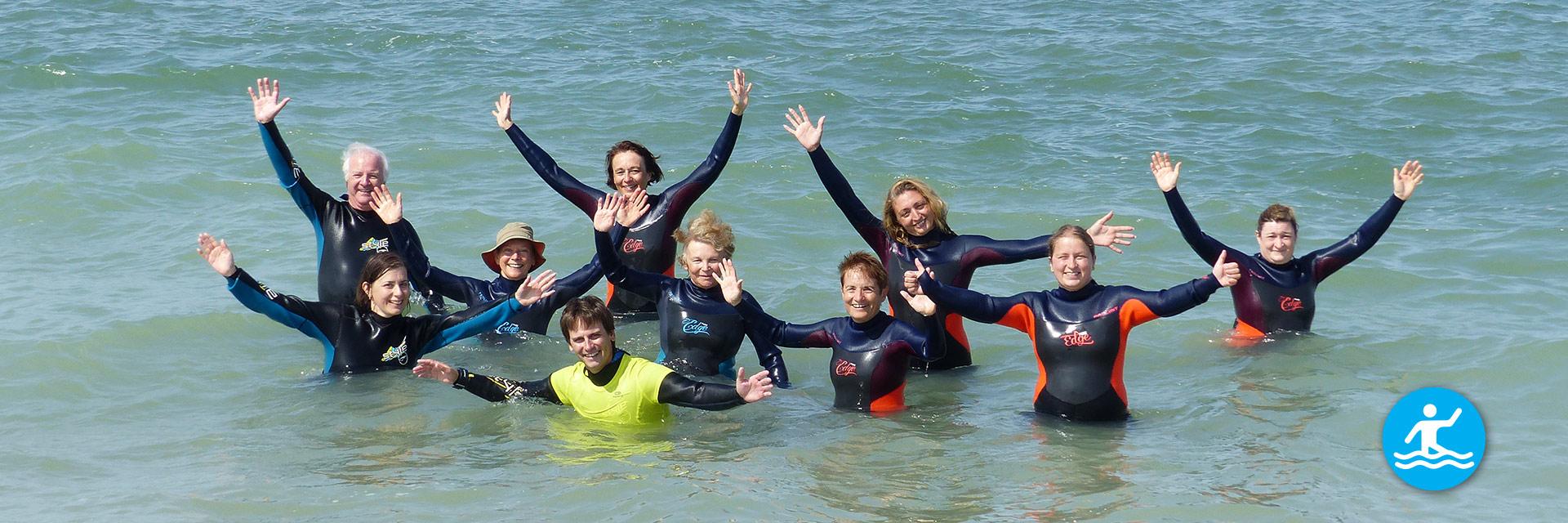 Pratiquez la marche aquatique en groupe !
